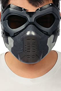 Xcoser Winter Soldier Mask Bucky Eye Face Mask Props for Adult Halloween