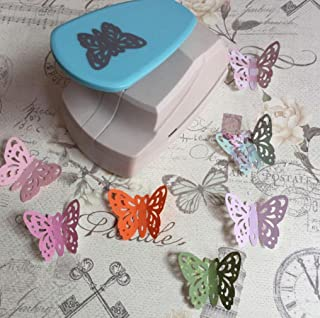 Iusun Embossing Machine, Hollow Butterfly Heart Shape Punch Paper Cutter Tool for DIY Card Making Scrapbooking Craft Tags Gift