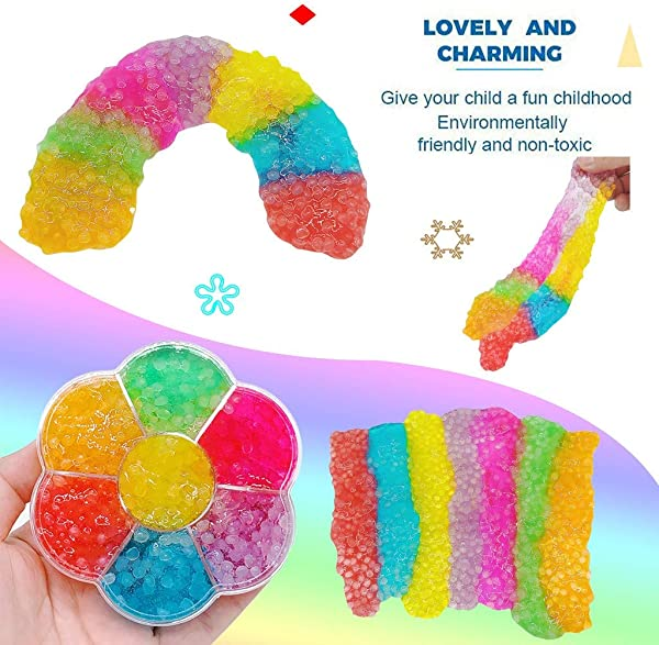 Panzisun Rainbow Color Slime Cotton Mud Soft Safe Non Toxic Chocolate Ice Cream Charm Butter Slime Scented Non Sticky With For Kids Adults
