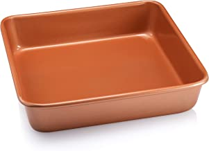 Gotham Steel Ultra Durable Bakeware - Nonstick Copper Loaf Baking Pan 9.7-Inch-by-5.75-Inch - with Quick Release Ceramic C...