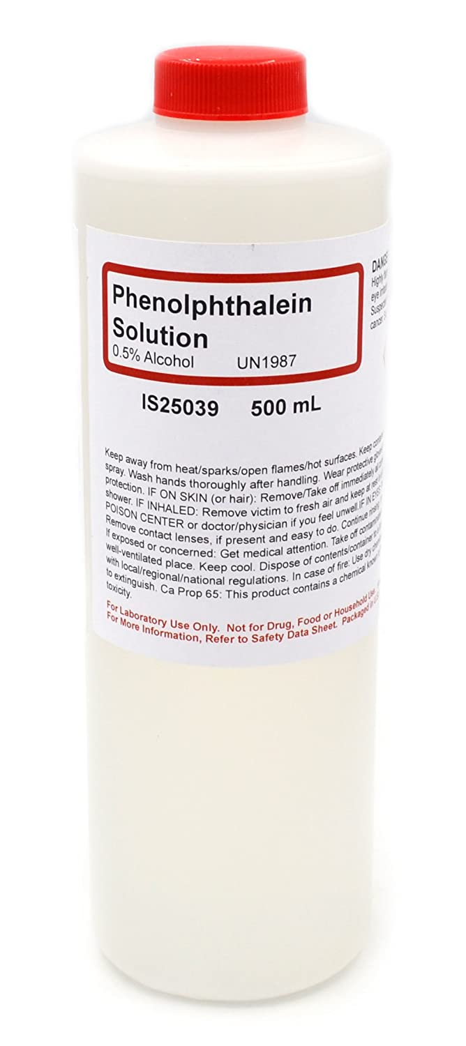 Phenolphthalein Solution Alcoholic 0.5% NEW before selling 500mL - The Curated C Limited Special Price