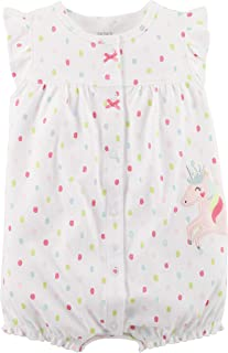 Carter's Baby Girls' Printed Chambray Romper