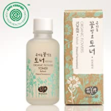 Whamisa Organic Flowers Skin Toner - Refresh Toner for Face & Body | Natural Hydrating Moisturizer for Normal to Oily Skin | with Natural Fermented Ingredients 4.05 fl.oz. | EWG Verified