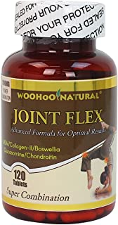 WooHoo Natural Super Strength Joint Ease - Advance Formula for Optimal Result - 120 CT, Glucosamine+Chondroitin+MSM+Collagen II+Boswellia Joint Flex Formula (1)