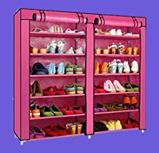 Gadgets Appliances 6-Tiers 2 Rows Doors Shoe Rack with Dustproof Cover Closet,36-Pair Shoes Rack Storage Cabinet Organizer