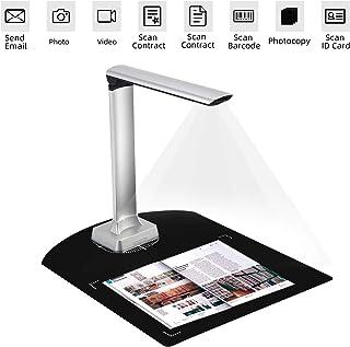 ドキュメントスキャナー ポータブルブックスキャナー 自動スキャン1200万画素 高精細度カメラキャプチャA4サイズスキャナー 多言語OCR画像をWord ・ Excel ・ PDF ・TXTに変換 日本語対応スキャナー