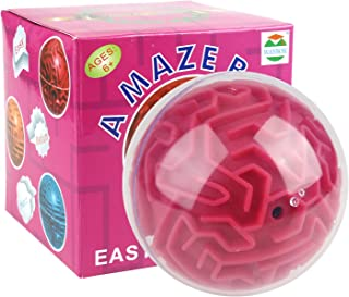 3D Magic Maze Puzzle Ball Cube Game Globe Sphere Bulk Labyrinth Toys Brain Teaser Game Learning Education Puzzle Toys Gifts (Easy Difficulty)