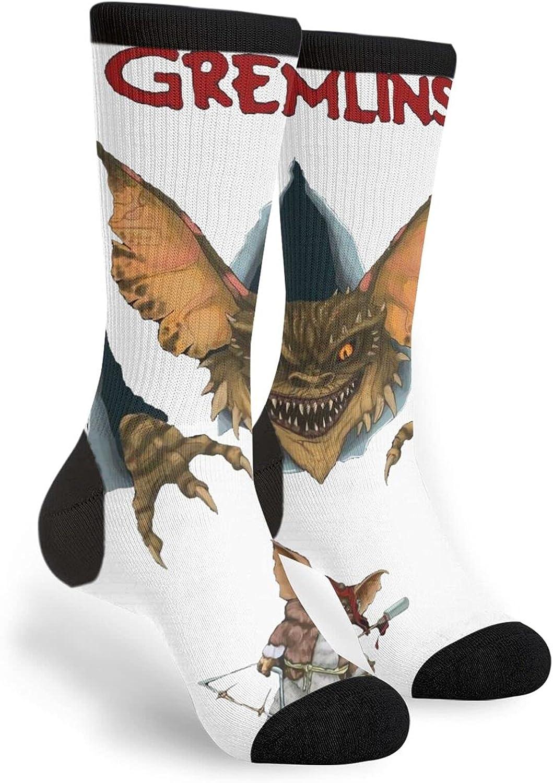 Gremlins Athletic Crew Socks Casual Funny Crazy Dress Anti-Blister Wicking Socks Anti-Odor