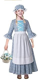Pettigirl Girls Pioneer Costume Child Floral Prairie Dress