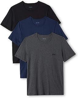 Hugo Boss Mens 50325887 T-Shirt Rn 3p Co Base Layer Top - Multi