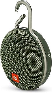 JBL Clip 3 Waterproof Portable Bluetooth Speaker - Green (Renewed)