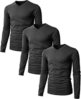 753576ba4 ... Check out this H2H Mens Casual Premium Slim Fit T-Shirts Long Sleeve  Cotton Blended