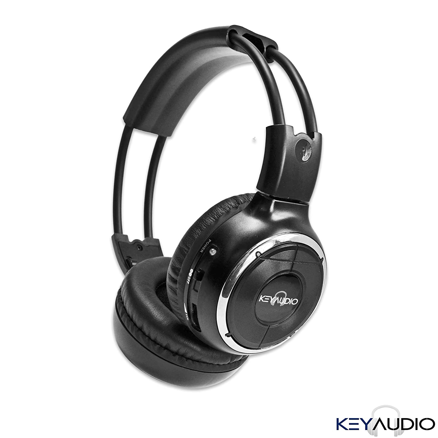 1 Two Channel Folding Adjustable Universal Rear Entertainment System Infrared Headphone With 1 Additional 48