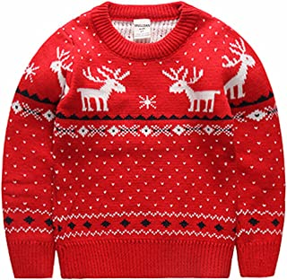 MULLSAN Children's Fireplace Lovely Sweater Christmas Best Gift