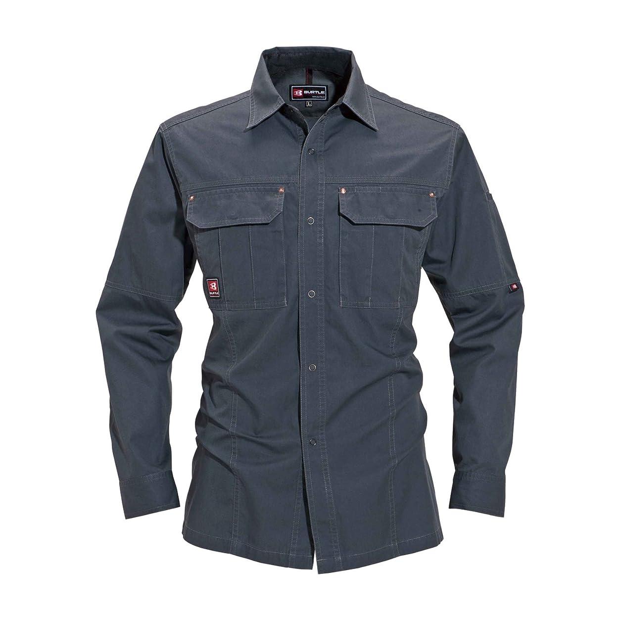 良心的せせらぎ意図的BURTLE バートル 長袖シャツ(秋冬用) 8035 クーガー 5L