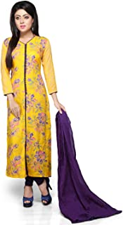 Vastra Vinod Yellow Rayon Readymade Kurti with Legging