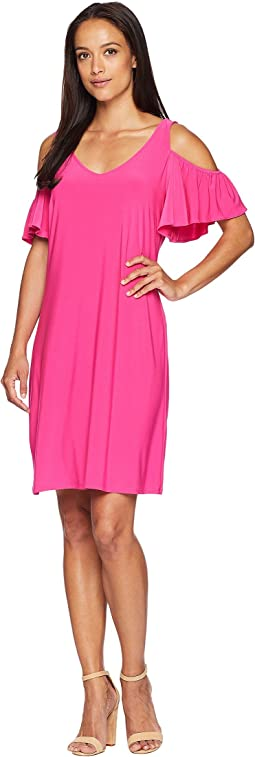276b49a491e Bcbgmaxazria rose asymmetrical draped shoulder dress at 6pm.com