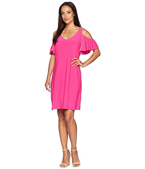 91cbc1ef55 American Rose Suri Cold Shoulder Ruffle Sleeve Dress at Zappos.com