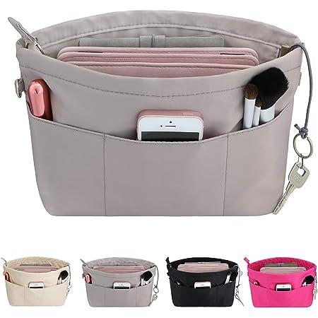 Organisateur de Sac /à Main en Feutre Sac de Rangement Int/érieur Bag in Bag pour Femmes avec Sac /à Fermeture /éclaire abricot