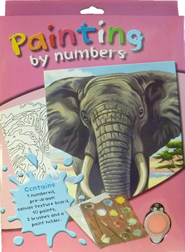 Children's Paint-By-Number Kit: Elephant