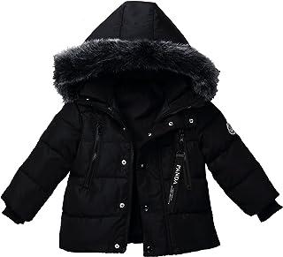 Foyeria Outdoor Down Jacket Coat Winter For Baby Boys Girls Warm Puffer Windproof Winter Coat (3T, Black)