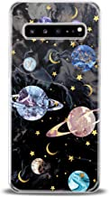 Cavka TPU Phone Case for Samsung Galaxy Note 10 Plus 5G S10 S10e S9 S8 S7 Print Space Colorful Flexible Lightweight Beautiful Saturn Smooth Planets Black Design Clear Gift Soft Slim fit Kid Marble