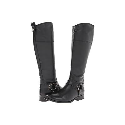 Frye Melissa Harness Inside Zip (Black Soft Vintage Leather) Cowboy Boots