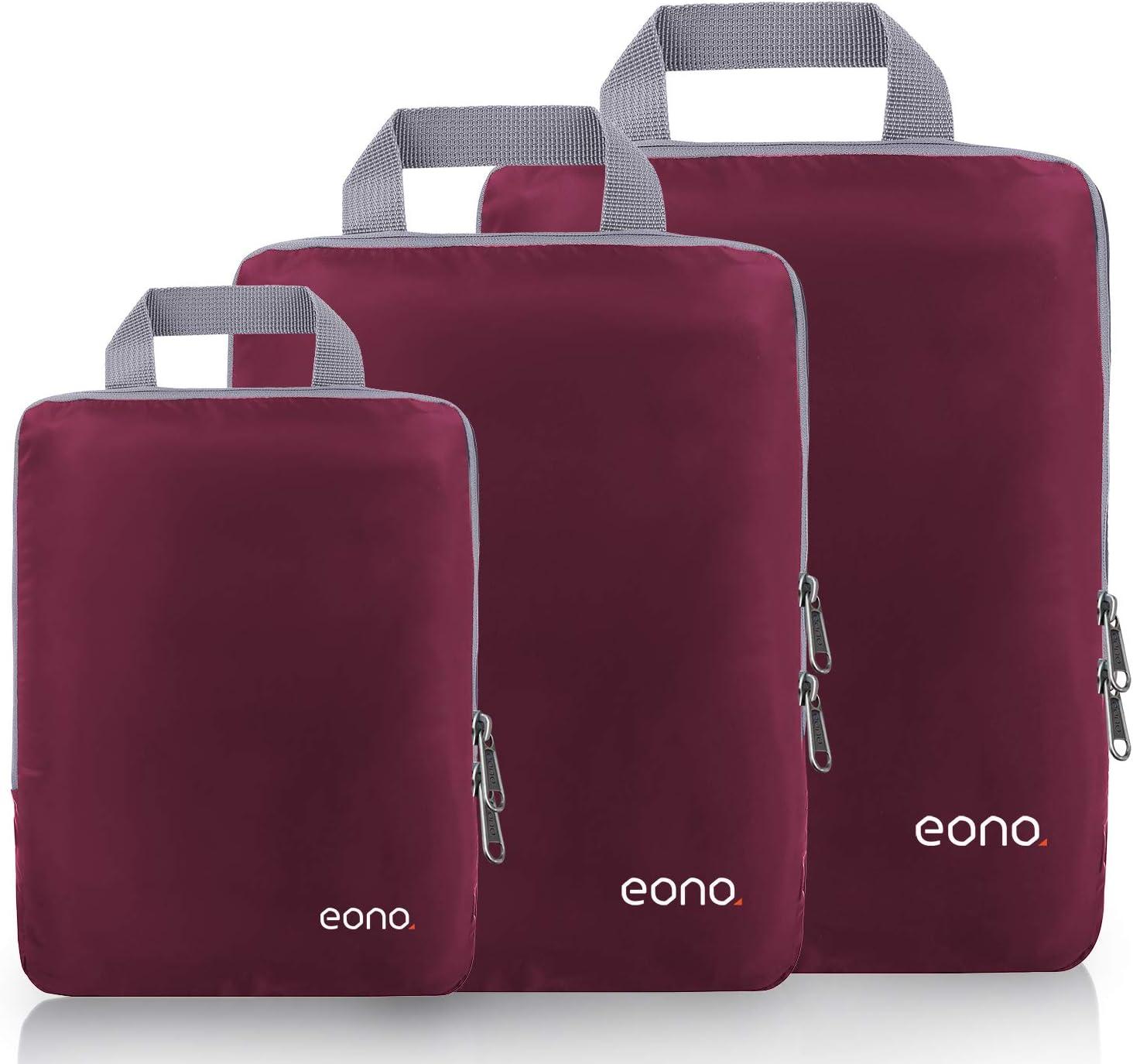 Amazon Brand - Eono Organizadores de Viaje de compresión expandibles, Impermeable Organizador de Maleta, Cubos de Embalaje, Compression Packing Cubes ...