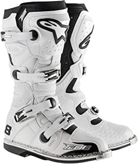 Alpinestars Unisex-Adult Tech 8 RS Vented Boots (White, Size 15 )