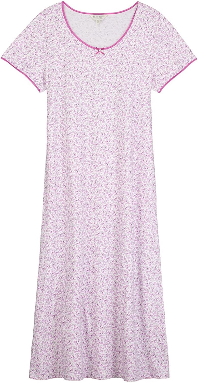 The Irish Linen Store Susan Cotton Berry Nightdress