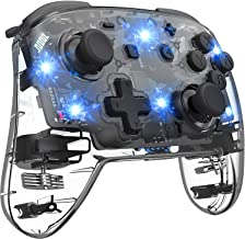 Switch Controller, 8 colors Colourful Wireless Pro Controller for Switch Remote Gamepad Joypad Console Joystick with Adjus...