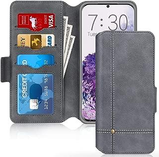 MOELECTRONIX Moelectroix /Étui de Protection en Cuir v/éritable pour Samsung Galaxy S20 Ultra 5G avec Clip et dragonne Noir Taille XL