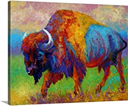 "Journey Unknown Bison Canvas Wall Art Print, 20""x16""x1.25"""