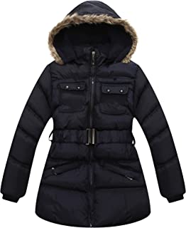 Richie House Little Girls' Padding Jacket Detachable Hood RH1169