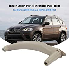 Partol Car Interior Door Handle Cover For BMW X5 X6, Inner Door Supprot Handle Pull Strap Grab Cover Door Armrest Bracket Fit for BMW X5 2008-2013 and BMW X6 2008-2014 (Right, Beige)