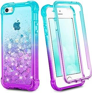 iphone se case glitter liquid