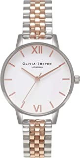 Olivia Burton Womens Quartz Watch, Analog Display and Stainless Steel Strap OB16MDW25