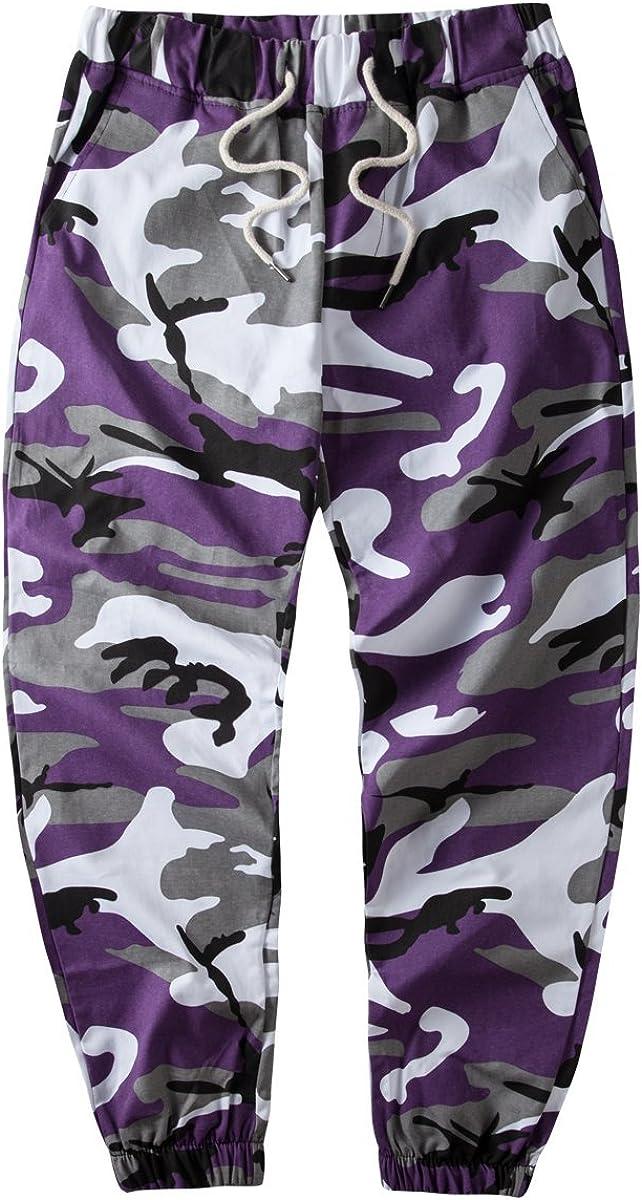 yanghcudh Men Hip Hop Woven Casual Pants Tactical Military Trous