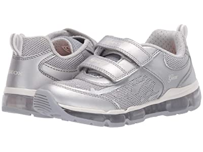 Geox Kids Android 26 (Little Kid/Big Kid) (Silver) Girl