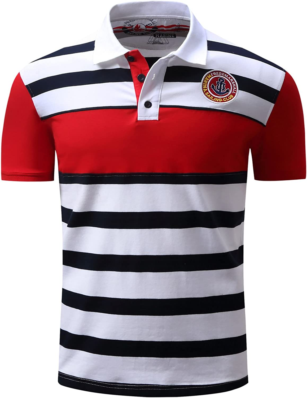 Spring and Summer Men's Polo Shirt Men's Lapel ShortSleeved Shirt