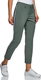 Oodji Collection Women's Tight Trousers with Side Stripes