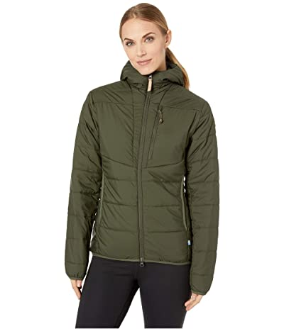 Fjallraven Keb Padded Hoodie (Deep Forest) Women
