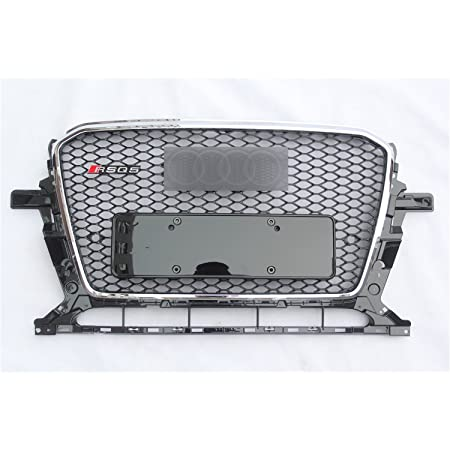 KIMISS Car Hood Grill Front Bumper Grille,Grill Accessory RSQ5 Style for Au di Q5//SQ5 8R 09-12