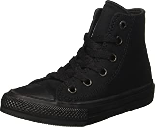 Converse Youths Chuck Taylor All Star II Hi (2.5 Little Kid M, Black/Black)