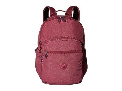 Kipling Seoul Laptop Backpack (Fig Purple) Backpack Bags