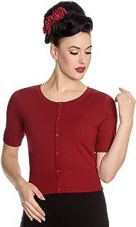 Dark Red Wendi Vintage Style Cardigan