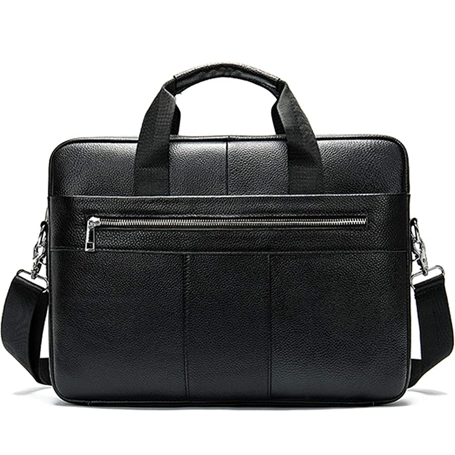 Sduyt Men'S Briefcase Bag Men'S Genuine Leather Laptop Bag Business Tote For Document Office Portable Laptop Shoulder Bag 8523A4Black Russian Federation