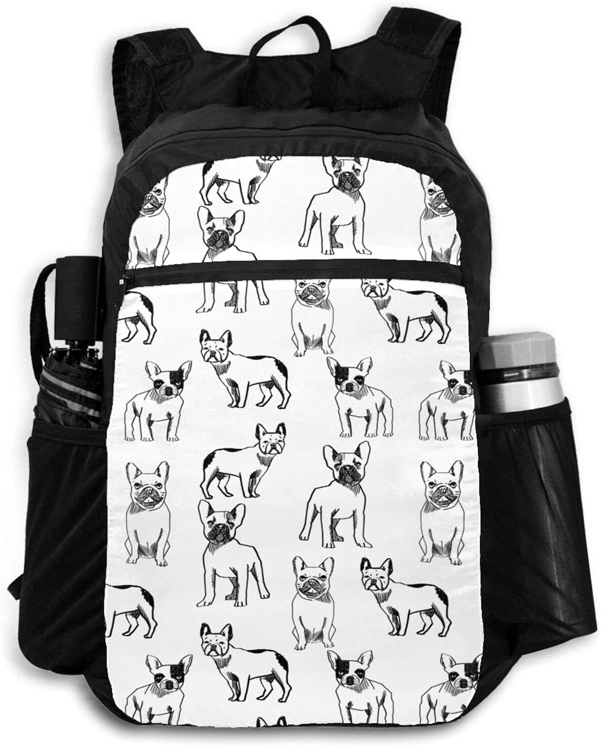 Zolama French Bulldog Backpacks for OFFer Men Packable 2021 spring and summer new Dayp Cute Women