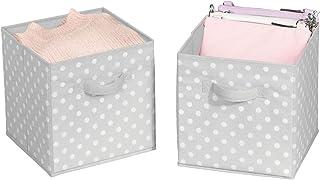 mDesign boîtes de rangement petit (lot de 2) – casiers de stockage pratiques pour une armoire parfaitement rangée dans la ...