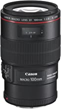 Canon EF 100mm f/2.8L IS Macro USM Lens, Black